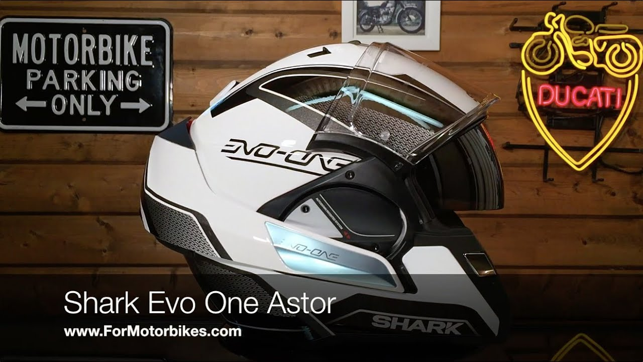 shark evo one astor helmet youtube. Black Bedroom Furniture Sets. Home Design Ideas