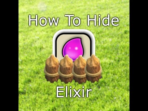 How to Hide Elixir in Clash of Clans! TheDon1824