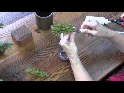 How to Create a Wooly Pine Tree
