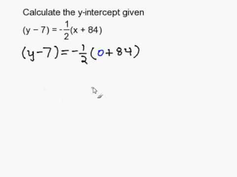 Find the y-intercept given an equation in point slope form - YouTube