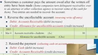 Recovery Account reversing bad debt