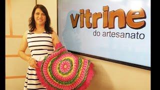 Tapete flor Pink com Maria José | Vitrine do Artesanato na Tv