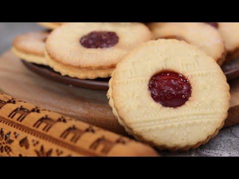РОЖДЕСТВЕНСКОЕ ПЕЧЕНЬЕ С ДЖЕМОМ🌲ЛИНЦЕРСКОЕ печенье РЕЦЕПТ🌲Lincer cookie recipe