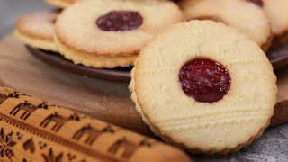 РОЖДЕСТВЕНСКОЕ ПЕЧЕНЬЕ С ДЖЕМОМ ЛИНЦЕРСКОЕ печенье РЕЦЕПТ Lincer cookie recipe