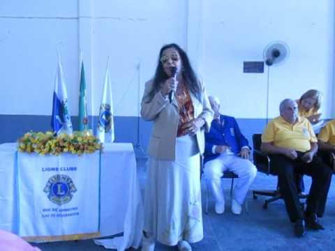 Eunice Cariry discursa na posse do Presidente João Roberto do Lions Clube Ilha- 2017