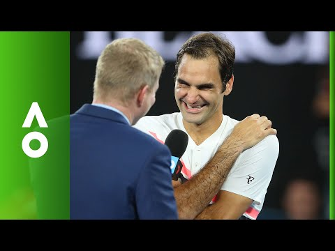 Roger Federer on court interview (SF) | Australian Open 2018