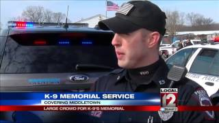 Memorial Service For K9 Officer Killed In Fire