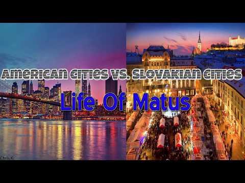 Slovakia vs USA - city differences