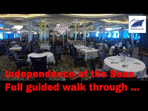 Independence of the Seas Walk through guided ship tour - Royal Caribbean