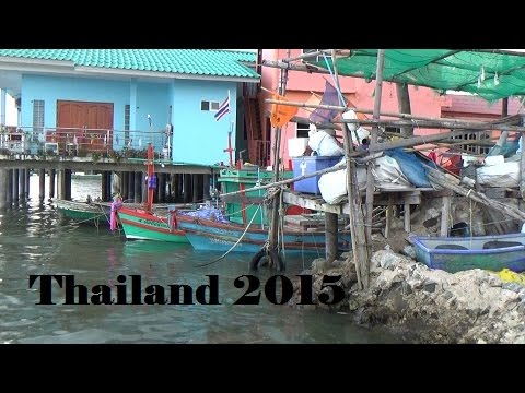 Small Thai Fishing port behind the seafood market – Naklua Thailand