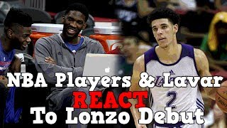 NBA Players And Lavar Ball React To Lonzo Ball
