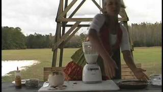 How To Make Raw Young Coconut Cream For Raw Pumpkin Pie.