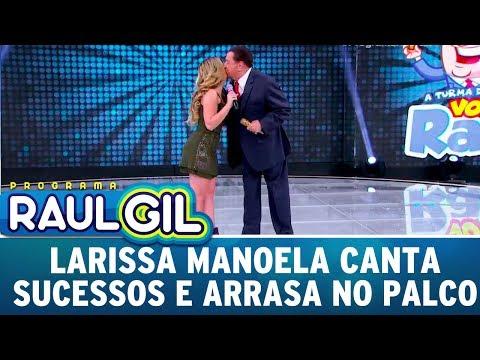 Larissa Manoela Canta Sucessos E Arrasa No Palco | Programa Raul Gil (08/07/17)