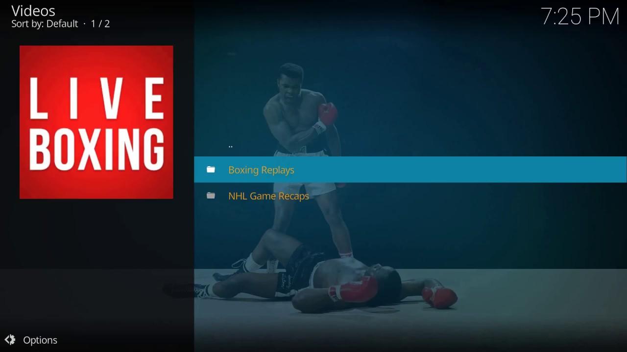 Boxing UFC Addons for kodi
