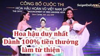 Vì sao H'Hen Niê dùng 100% tiền thưởng nhận được làm từ thiện ?