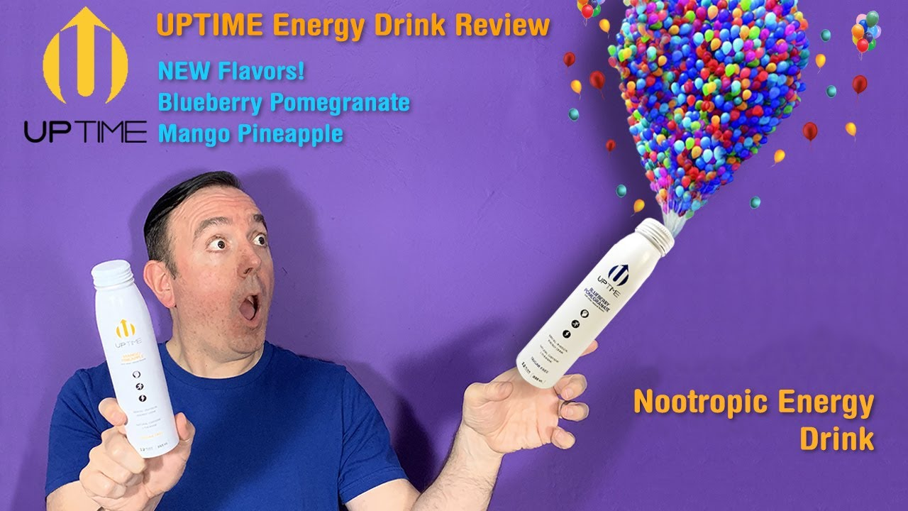 Uptime Energy Drink Product Review Nootropic Energy Drink With 2 New Flavors Youtube
