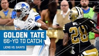 Matthew Stafford Hits Golden Tate for a 66-Yard TD! | Lions vs. Saints | NFL