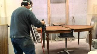 Refinishing A John Widdicomb Dining Table At Timeless Arts Refinishing