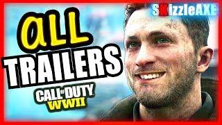 ALL NEW CALL OF DUTY WW2 TRAILERS - WW2 Zombies Trailer & Call of Duty World War 2 Gameplay Trailers