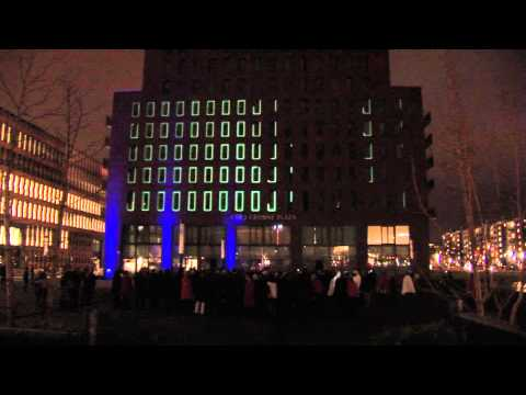Opening Crowne Plaza Hotel Amsterdam South - Mapping projection by The Unit Showcontrol