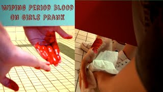 Wiping Period Blood on Girls Prank : Bathroom Prank Gone Wrong