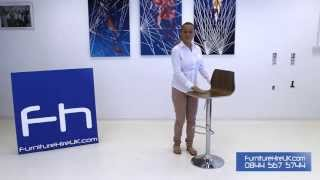Walnut Stool Demo - Furniture Hire Uk
