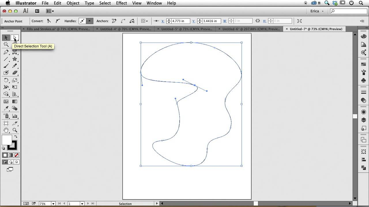 Adding and Deleting Anchor Points in Illustrator