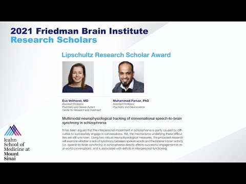 FBI Research Scholars: Eva Velthorst, MD and Muhammad Parvaz, PhD