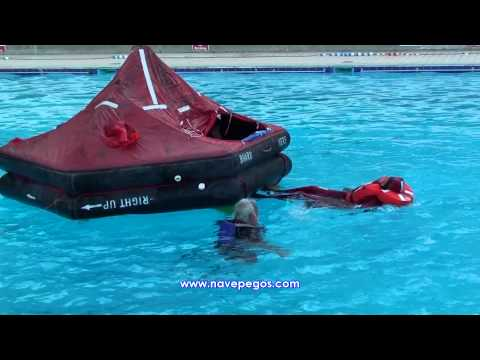 Life Raft Righting Techniques