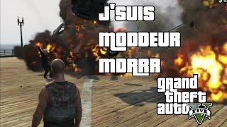 GTA V ONLINE JEAN KEVIN SE FAIT PASSER POUR UN MODDEUR, et TROLL DEUX KIKOOS ( RAGE?)