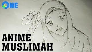How To Draw Anime Girl Hijab Muslimah | Cara Menggambar Anime Girl Hijab Muslimah