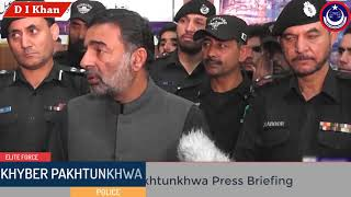 IGP Salahuddin Khan Mehsud Press  briefing on Khyber Pakhtunkhwa in D I Khan (Sharifa Bibi )
