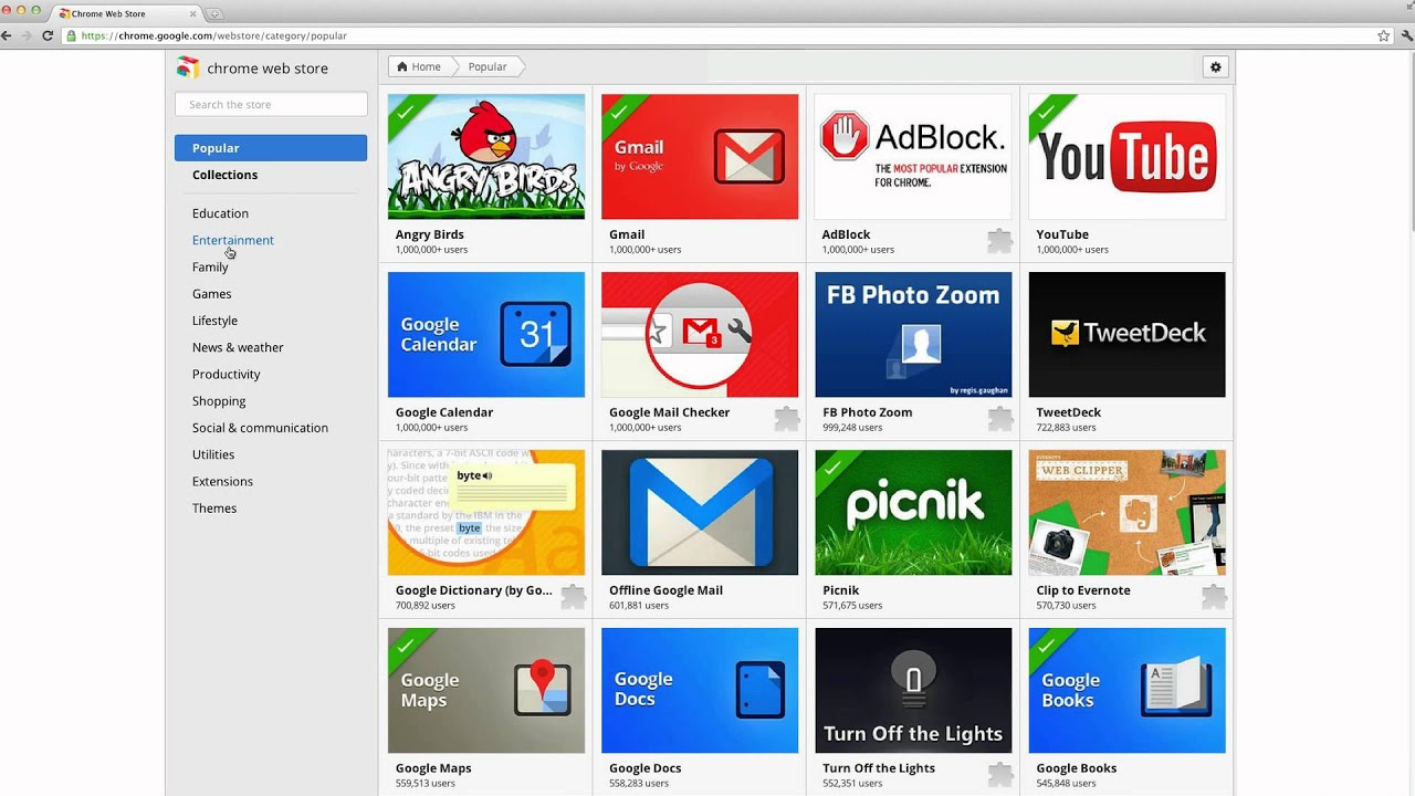 how to discover apps in the chrome web store