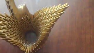 Origami Golden Swan