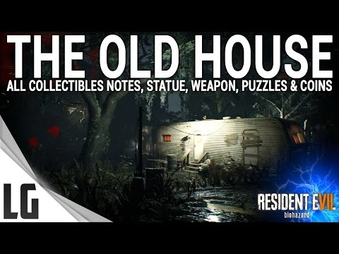 Resident Evil 7 - Old House Collectibles Guide (Items, Weapons, Statues, Notes, Antique Coins)
