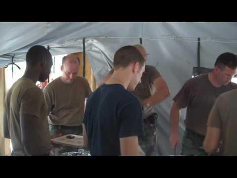 Sailors enjoy a Creole Cook Out