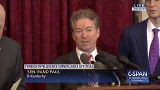 Rand Paul Agrees with Elizabeth Warren on Illegal Spying
