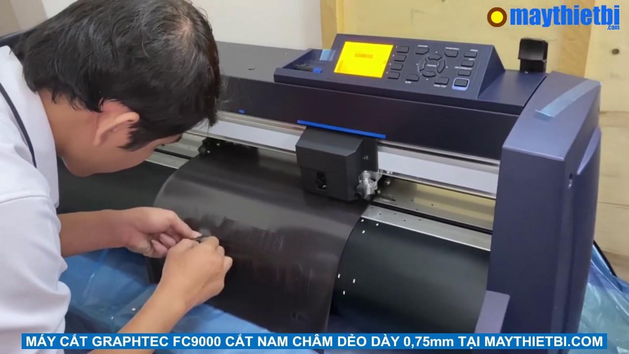 Máy cắt Graphtec FC9000 cắt nam châm dẻo dày 0,75mm đẹp, sắc sảo