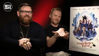 Simon Pegg & Nick Frost on their first 'Stolen Picture' project Slaughterhouse Rulez