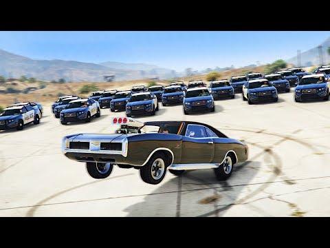 GTA 5 COPS & ROBBERS - ВАЛИМ ВДВОЕМ ОТ 19 ПОЛИЦЕЙСКИХ АВТО НА МАШИНЕ ВИН ДИЗЕЛЯ ИЗ ФОРСАЖА БЕЗ ПДД!