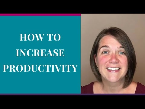 Productivity Tips | How To Increase Productivity