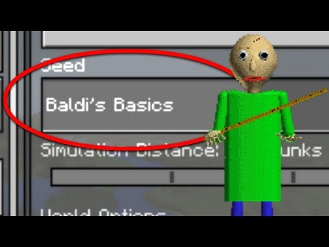 Do NOT Play the BALDI'S BASICS WORLD in Minecraft Pocket Edition