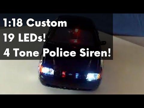 Diecast Police Car W Flashing Lights Doovi