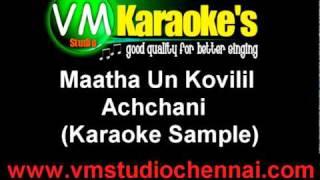 Maatha Un Kovilil - Achchani (Karaoke Sample).mpg