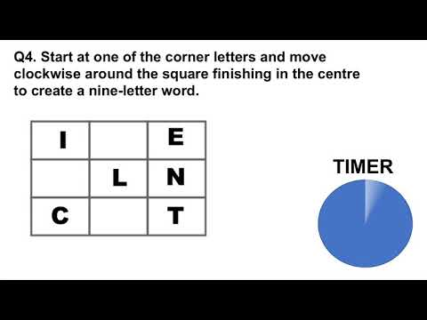 IQ And Aptitude Test - 9 LETTER WORDS!