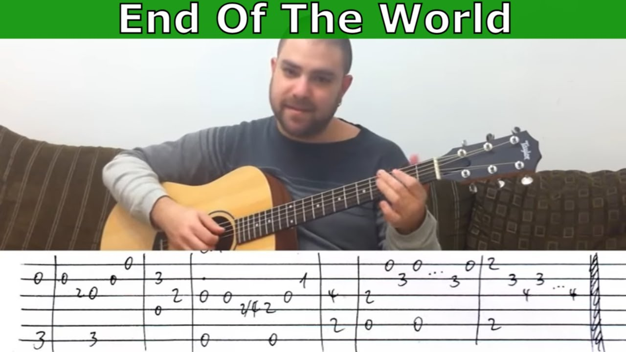 Fingerstyle Tutorial End Of The World Guitar Lesson W Tab Youtube