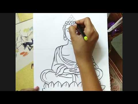 How To Draw Lord Buddha Easy
