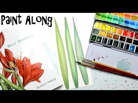 Easy Watercolor Leaf Paint Along Watercolor Tutorial from Billy Showell Watercolor Portraits Book