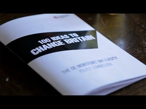 100 Ideas to Change Britain - De Montfort University (DMU)